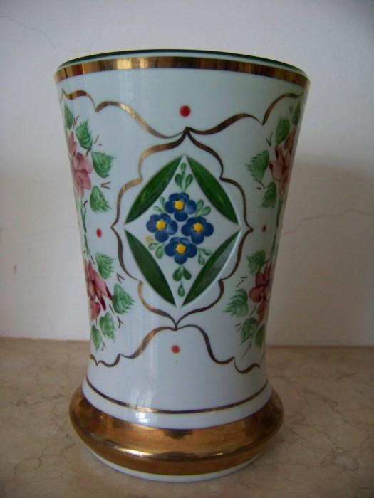 vaza sticla-cristal Bohemia,pictata
