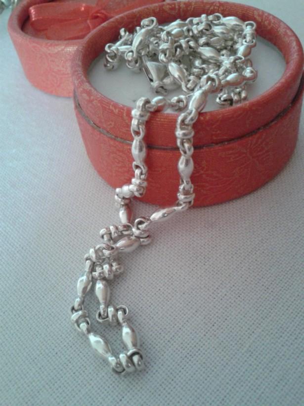 Colier masiv argint 925, model rar intalnit