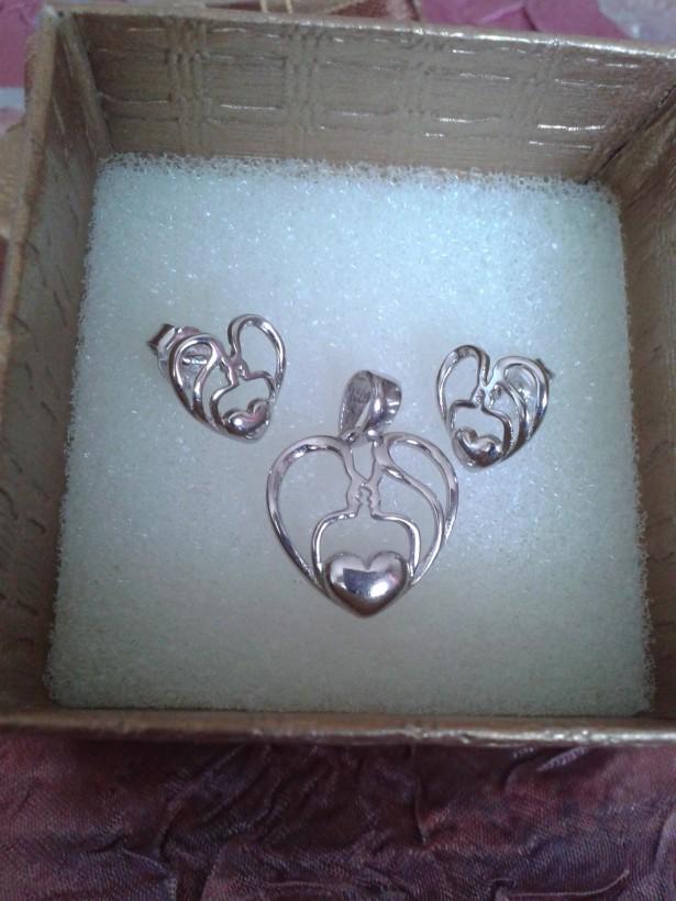 Set argint 925,rodiat, elegant