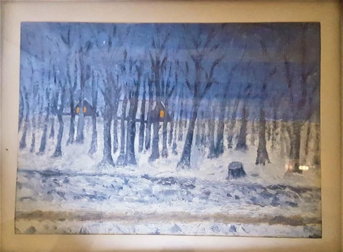 Talou 65X44 cm, pictura pe carton