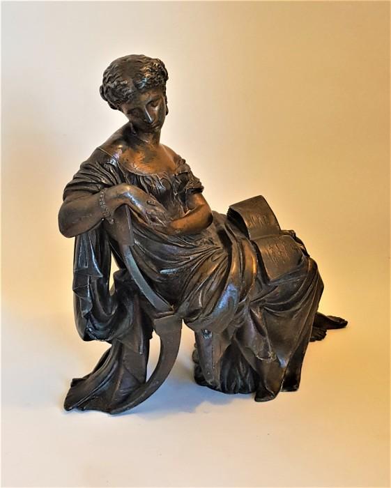 Statueta vintage din antimoniu, semnata