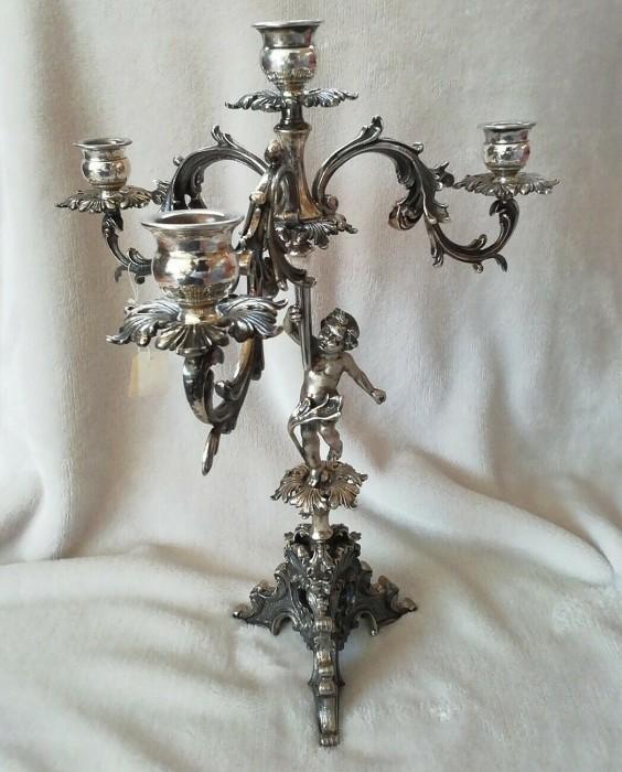 superb sfesnic antic argint800 cu amoras
