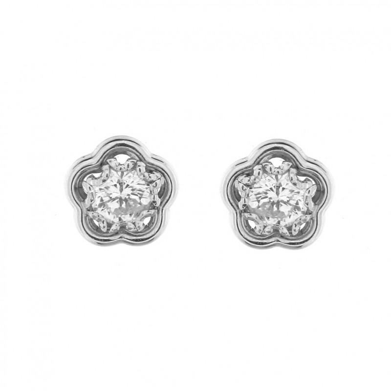 Cercei din aur alb 18K cu diamante, 1,11 ct., CAU118