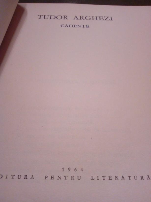 Volum Cadente 1964 Tudor Arghezi,
