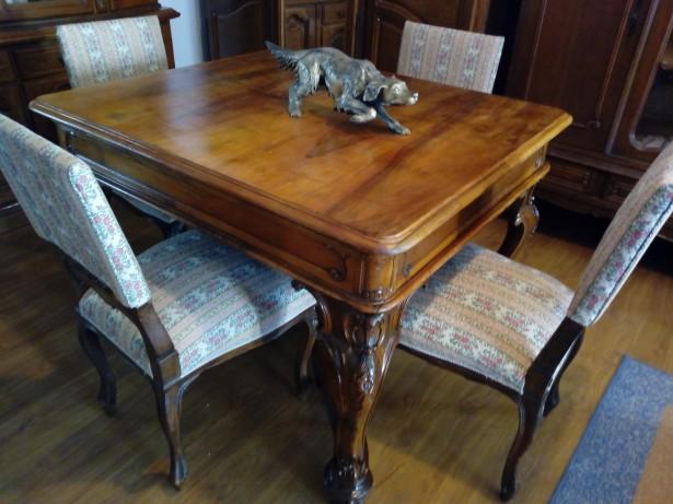 Masa Rococo + 4 scaune sf de sec XIX