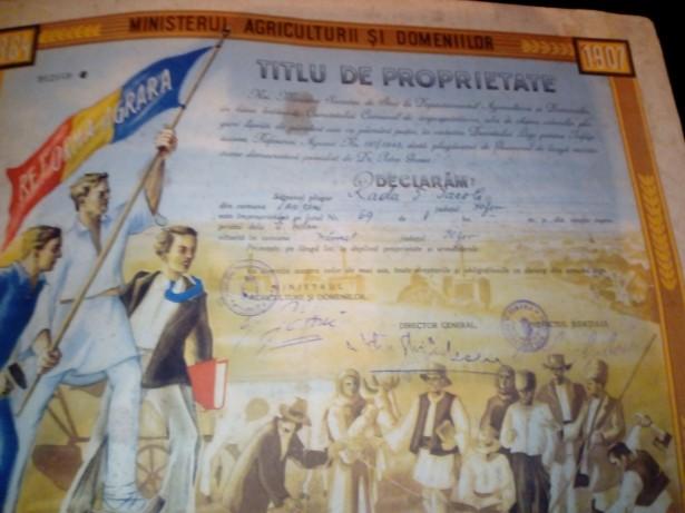 Titlu de proprietate Petru Groza 1945