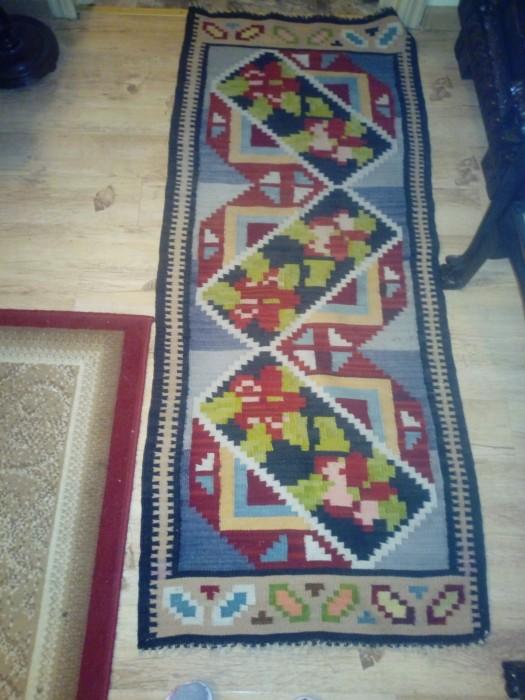 Traversa tip cerga tradițională de lana țesută manual
