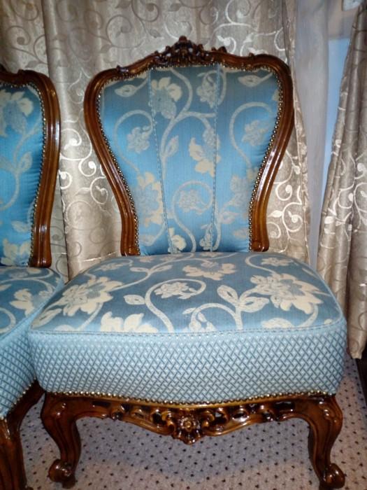 Fotolii retapitate antice Louis Philippe de sec al XIXlea