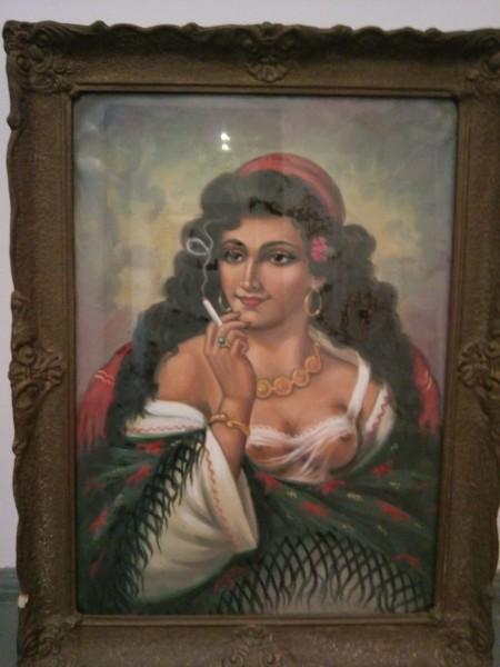 Tablou `portret de femeie fumand`