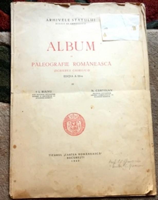 Album de paleografie romaneasca. Scrierea chirilica, 1940