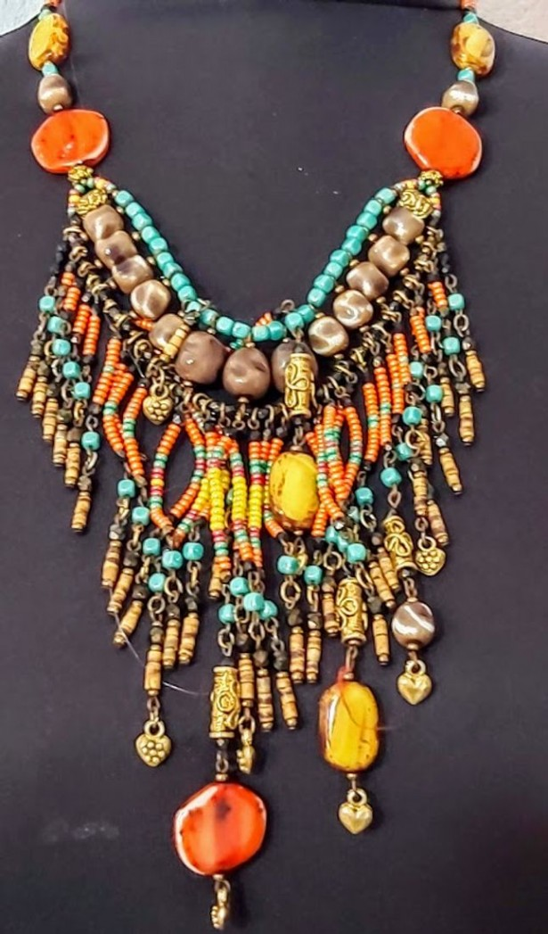 Colier statement tribal 80s