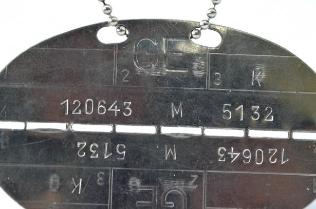 Placuta de identificare Armata Germana post WW2 - CIRCA 1960