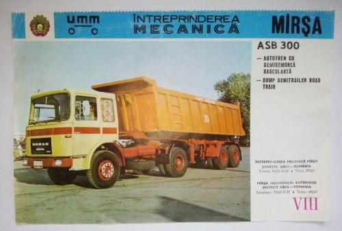 Reclama romaneasca - AUTOTREN CU SEMIREMORCA BASCULANTA - ASB 300 -  Intreprinderea Mecanica Marsa