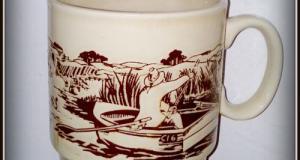Cana ceramica vintage, pescari in barca - Coloroll- Anglia