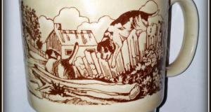 Cana ceramica vintage, peisaj rural - Coloroll- Anglia