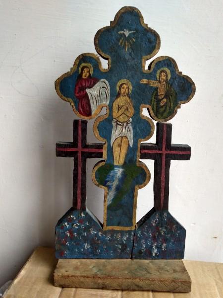cruce veche pictata