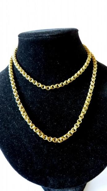 Colier argint aurit, vechi, 84