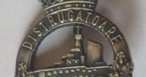 Insigna Militara Navala, Romania, perioada interbelica. Obiectul este in perfecta stare.