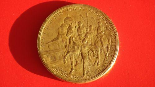 Placheta -  Ferdinand Regele Romaniei si Maria Regina; Intaiul Rege al Tuturor Romanilor Incorona