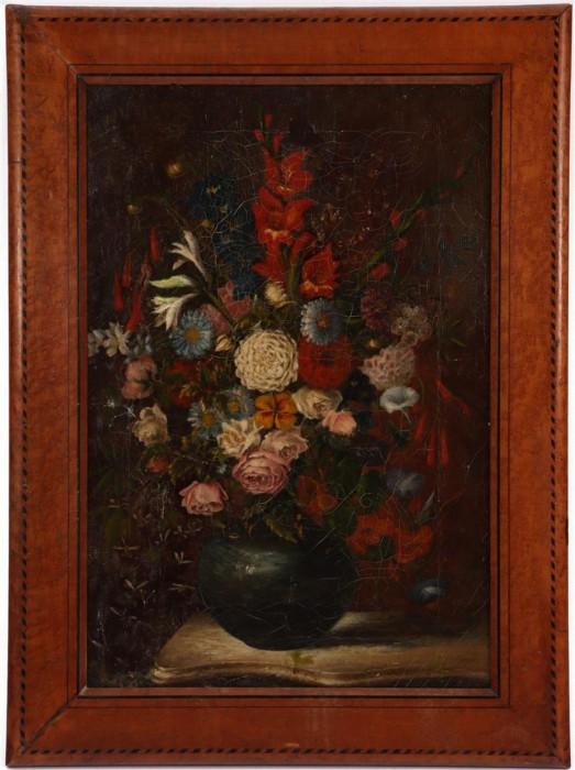 Tablou foarte vechi, pictura in ulei, cca 1850