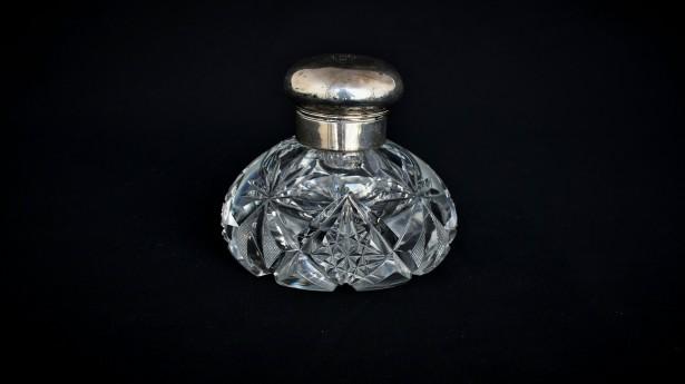Calimara cristal si capac de argint 018595
