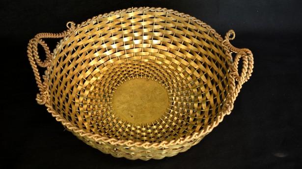 Fructiera cu impletituri din bronz aurit 018893