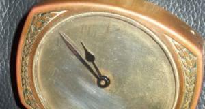 Ceas colectie pentru masina antic perioada anilor 1900 american ,marcat Patented U.S.A