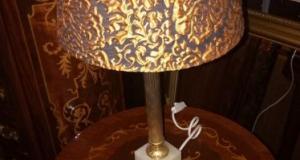 Lampadar pentru noptiera antic