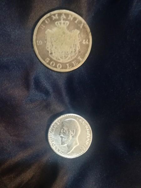 Doi lei 1912 rege Carol și 500 lei rege Mihai