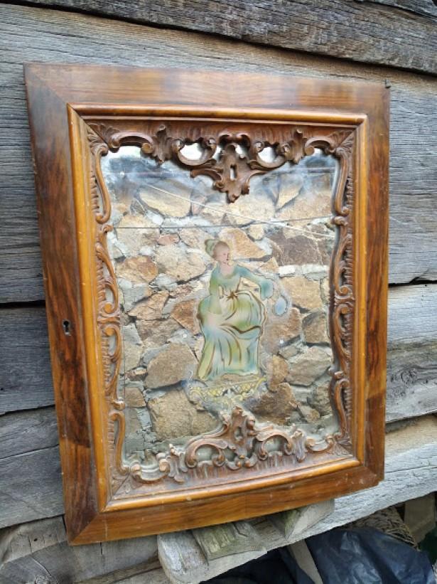 Rama de oglinda din lemn masiv