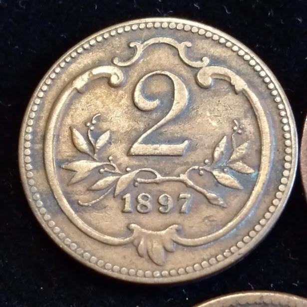 moneda 2 heller Haus Habsburg Franz Joseph I
