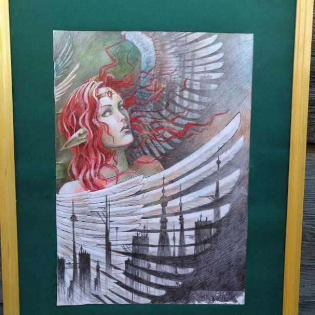 tablou avatar cu parul rosu