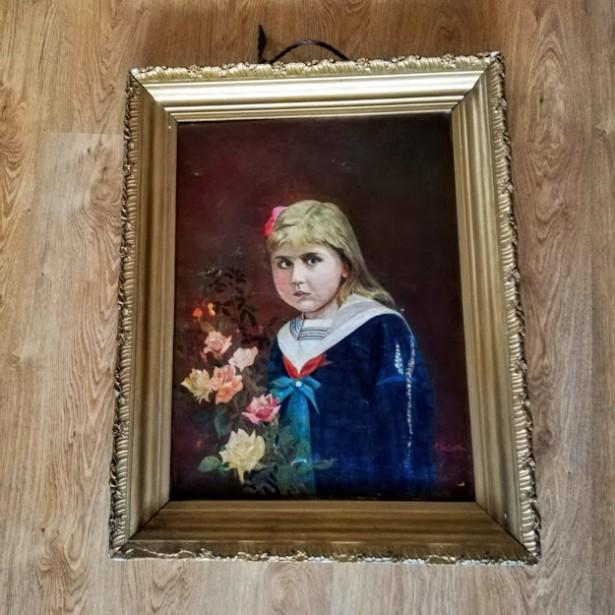 tablou fetita cu parul galben de p.van haute