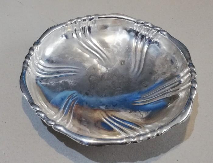 Fructiera bol centru de masa metal placat cu argint 27cm