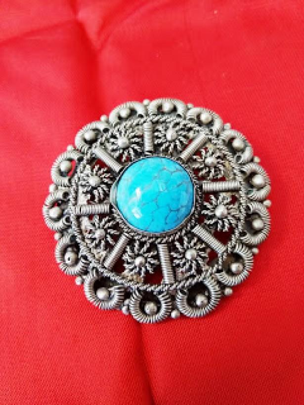 medalion din argint tibetan