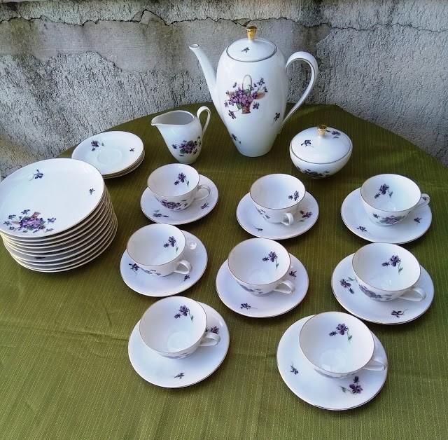 serviciu de cafea din portelan