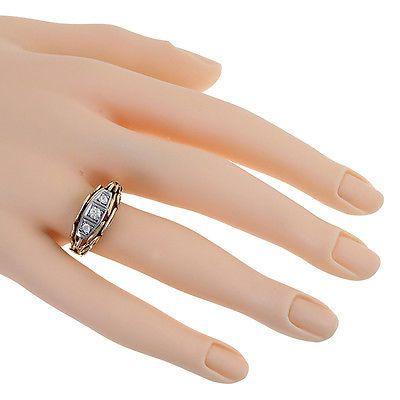 Inel vintage aur 14k cu diamante ca. 0,20 ct. reducere