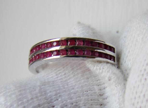 925 inel argint cu rubine masura 14