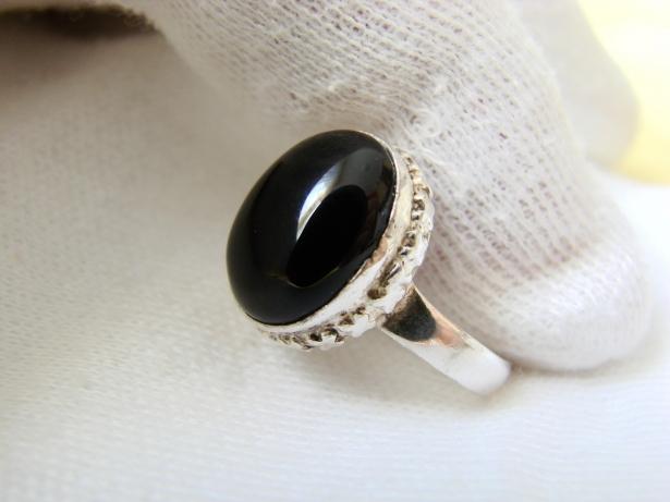 925 inel argint cu onix masura 18