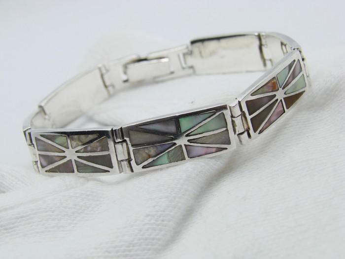 925 - bratara argint cu scoica sidef