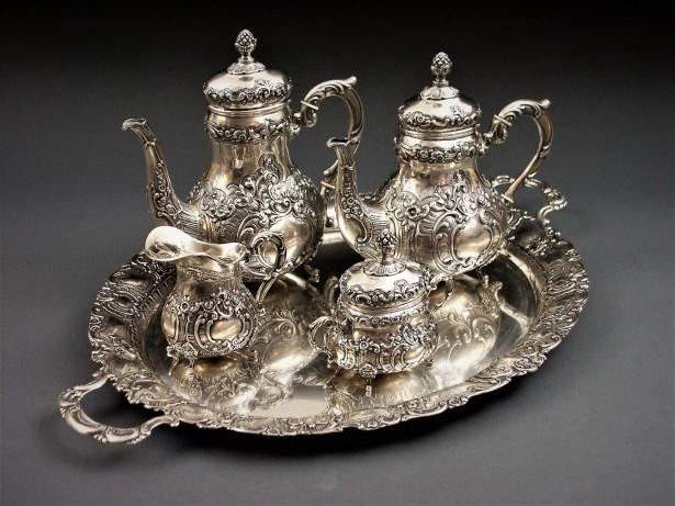 serviciu ceai si kafea argint ca 3,5 kg