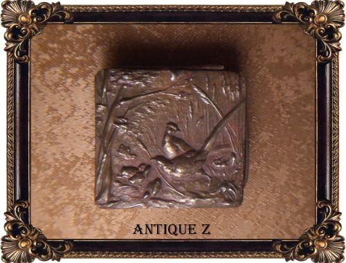 Cutiuta Art Nouveau Victorian, sec 19, bronz, alama, cupru