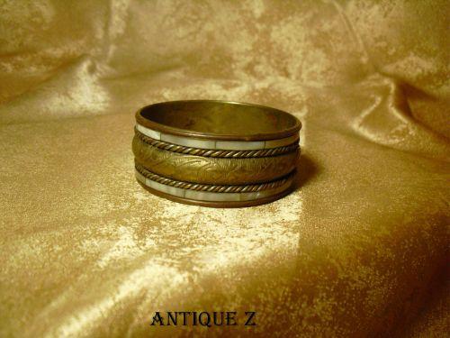 Bratara orientala bangle alama-argint-sidef, vintage
