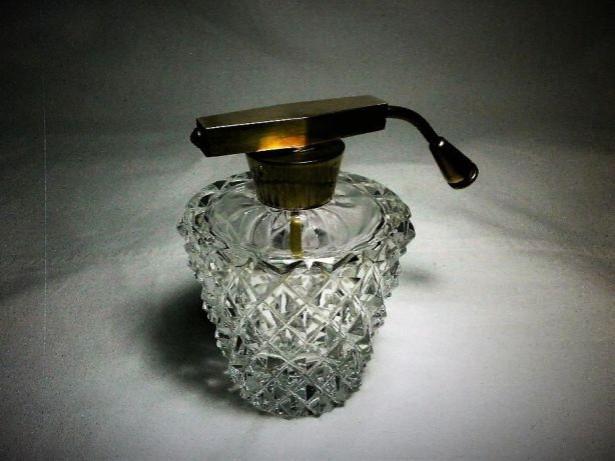 Parfumiera cristal Art Deco, colectie, cadou, vintage