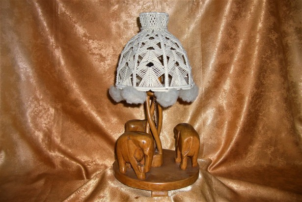 Veioza scuplturala africana, lemn exotic, colectie, cadou, vintage