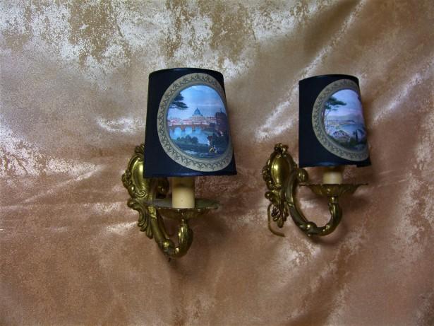 Aplice bronz stil Baroc Victorian colectie, cadou, vintage