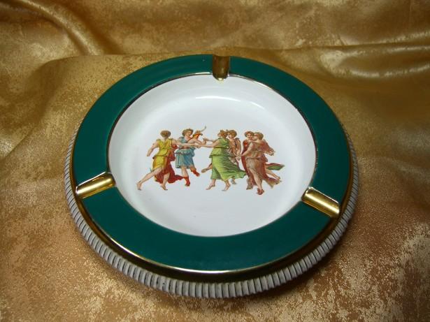 Scrumiera Art Deco, maiolica, Italia, colectie, cadou, vintage
