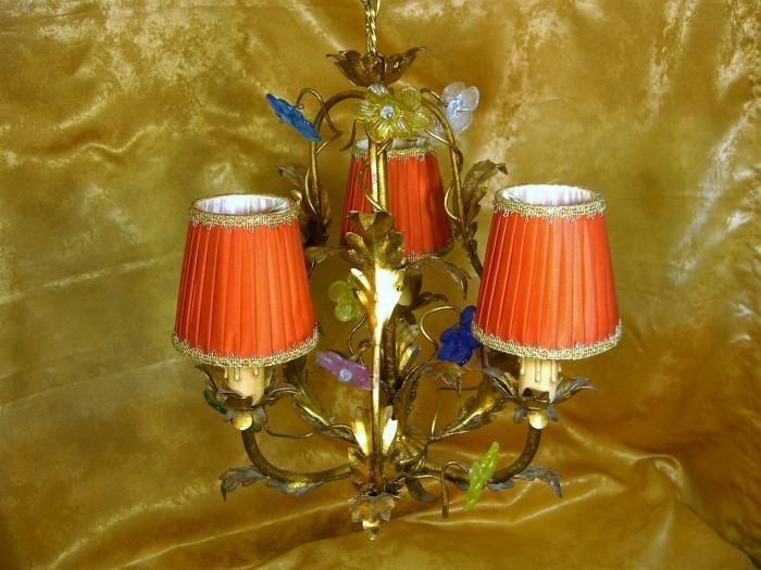 Lustra alama dore Art Nouveau sticla Murano vintage