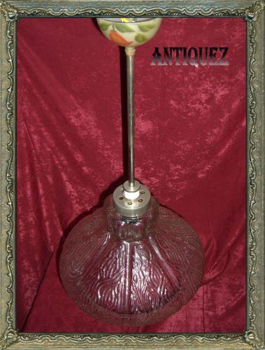 Lustra masiva unilux, vintage, inox cu sticla
