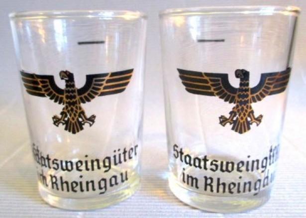 Rar! 4 pahare de colectie Vintage Staatsweingüter im Rheingau German